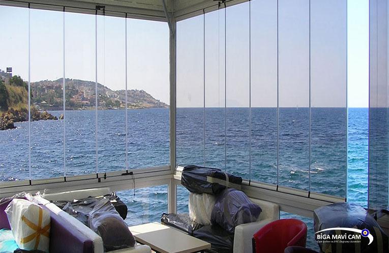 askılı cam balkon biga