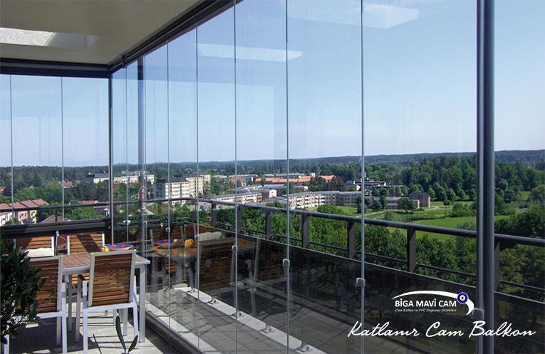 Biga katlanır cam balkon sistemleri