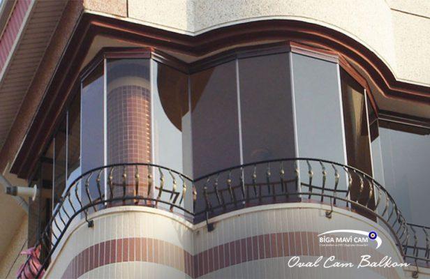 Biga oval cam balkon