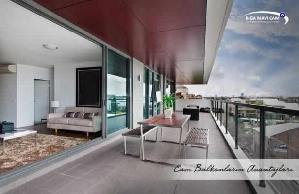 Biga cam balkonların avantajları